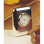Silver Plated Cushion Clock